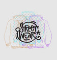 street wear fashion 90s casual urban style vector image vector image