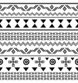 tribal black on white seamless repeat pattern vector image vector image