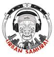 urban samurai 0005 vector image vector image
