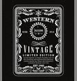 vintage frame border western label retro frame vector image vector image