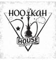 vintage hookah emblem vector image vector image