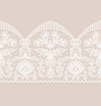 white lace ribbon vector image vector image