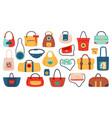 womens handbags fashionable ladies accessories vector image