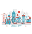 Modern Flat thin Line design Urban city concept vector image