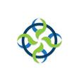 social connection logo vector image
