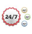 24x7 Icon vector image vector image