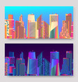 abstract futuristic city skyscrapers vector image
