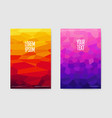 abstract poster gradient shapes background vector image