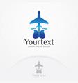 air plane logo vector image vector image