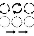 Arrow pictogram refresh reload rotation loop sign vector image vector image