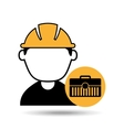 avatar man construction worker toolbox icon vector image vector image