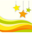 background design with stars and yellow wavy lines vector image