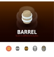 Barrel icon in different style vector image vector image
