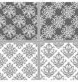 Black and white ethnic seamless pattern vector image vector image