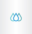 blue natural drop of water icon element vector image vector image