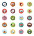 Business Flat Colored Icons 3 vector image vector image