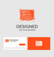 business logo template for code coding computer vector image vector image