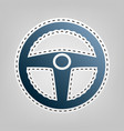 car driver sign blue icon with outline vector image vector image