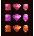 cartoon gems and diamonds vector image vector image