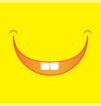 cartoon smile logo vector image vector image