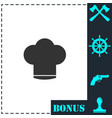 chef hat icon flat vector image vector image