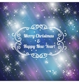 Christmas background with snowflakes eps10 vector image vector image