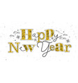 christmas poster happy new year vector image vector image