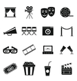 Cinema icons set simple style vector image vector image