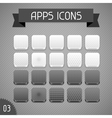 Collection of monochrome apps icons Set 3
