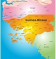 color map of Guinea-Bissau vector image vector image