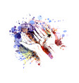 color of a begging hands vector image