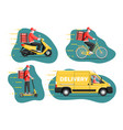 contactless delivery concept vector image