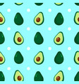 cute beauty avocado dotted pattern vector image vector image
