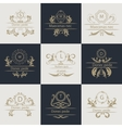Design cards ornamental decorative logos vector image vector image