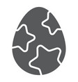 easter egg glyph icon easter and food egg sign vector image vector image