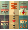 fathers day posters vector image vector image