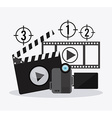Filmstrip and video camera design vector image vector image