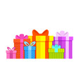 gift boxes colorful flat style christmas birthday vector image vector image