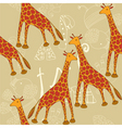 giraffe pattern vector image vector image