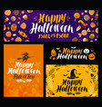 halloween trick or treat banner holiday symbol vector image vector image