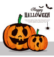 happy halloween card with pumpkins pattern vector image vector image