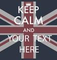 keep calm vector image vector image