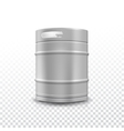 Metal beer keg with grained vector image vector image