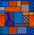patchwork textile pattern seamless quilting vector image vector image