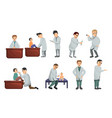 pediatrician icons set cartoon style vector image