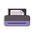 printer machine icon vector image vector image