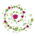 roses flourishes vector image vector image