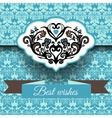 Royal damask ornament frame background vector image vector image