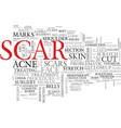 scar word cloud concept vector image vector image