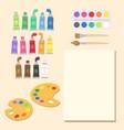 school art supplies set paint vector image vector image